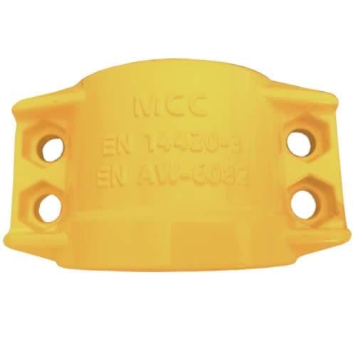 Obejma skorupowa skręcana [AL] – żółta