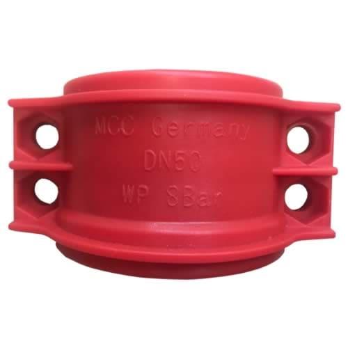 Obejma skorupowa skręcana [PP] – czerwona
